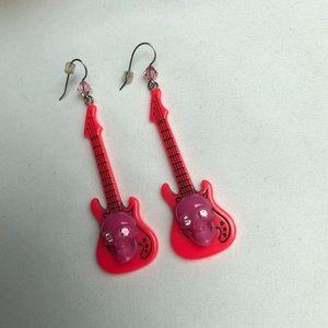 RARE { Tarina Tarantino} skull guitar earrings